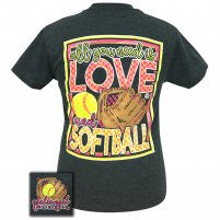 "Girlie Girl Originals ""Love Softball"" Tee"