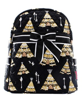 TeePee Print Quilted Backpack