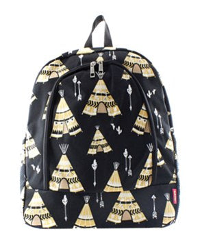 Tee Pee Print Backpack