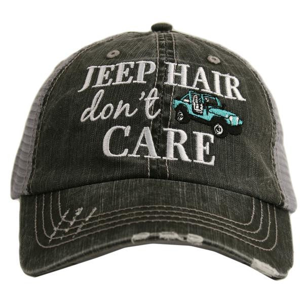 Katydid Jeep Hair Don't Care Trucker Hat - 6 Color Choices