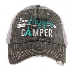 Katydid I'm A Happy Camper Trucker Hat - 2 Color Choices