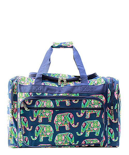 "23"" Elephant Print Duffel - 2 Color Choices"