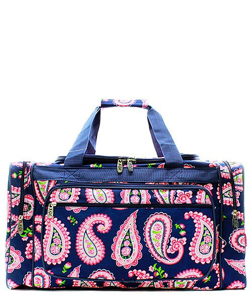 "23"" Paisley Print Duffel - 2 Color Choices"