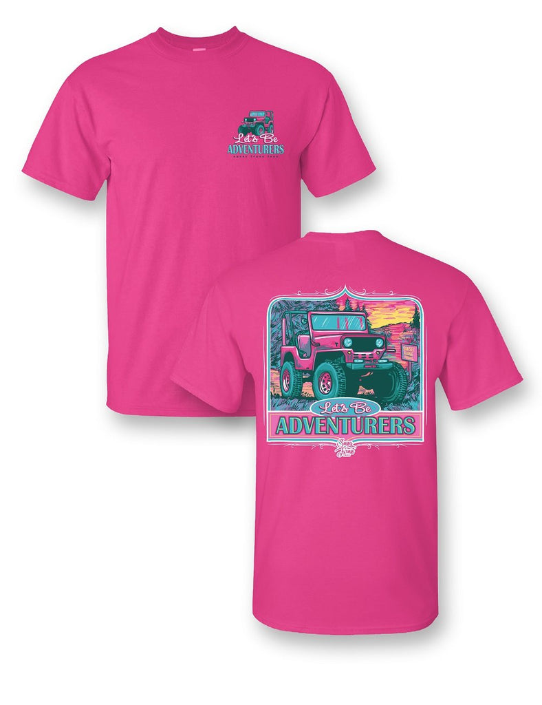 "Sassy Frass Tees Jeep ""Let's Be Adventurers"" Shirt"