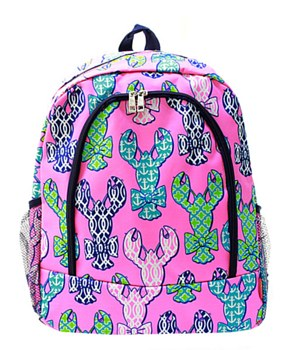 Lobster Print Backpack