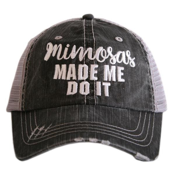 Katydid Mimosas Made Me Do It Trucker Hat