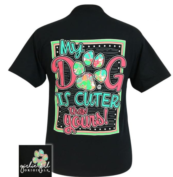 "Youth Girlie Girl ""My dog"" Tee"