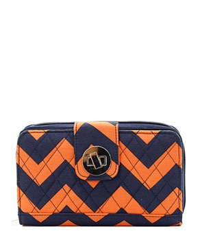 Quilted Wallet Chevron Print