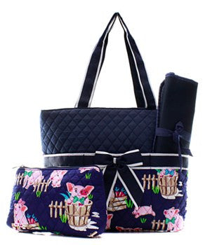 Piglet Diaper Bag - 2 Color Choices
