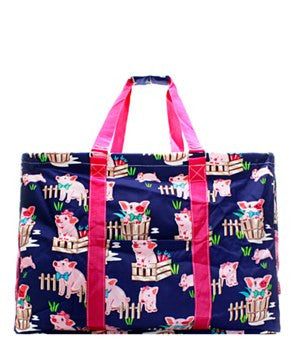 Utility Tote Extra Large - Piglet Print - 2 Color Choices