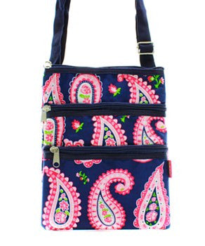 Paisley Print Messenger Bag