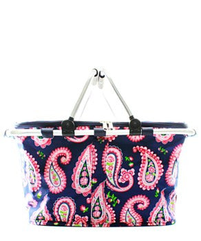 Insulated Picnic Basket Paisley