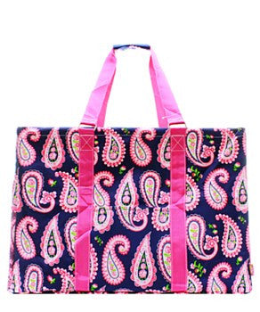 Utility Tote Extra Large - Paisley Print - 2 Color Choices
