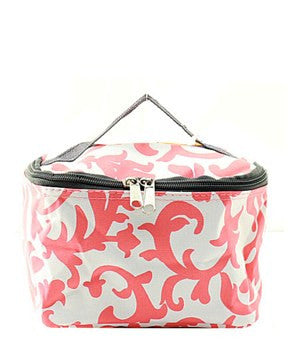 Damask Small Cosmetic Bag - 2 Color Choices
