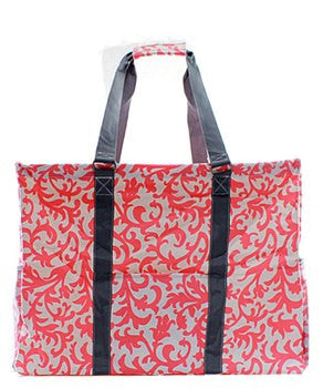 Utility Tote Extra Large - Damask Print - 3 Color Choices