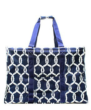 Utility Tote Extra Large - Rope Print