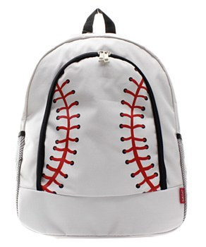 Baseball Print Backpack