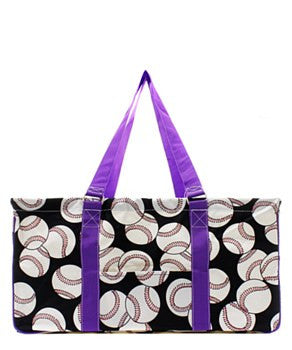 Utility Tote Large - Baseball Print - 4 Color Choices
