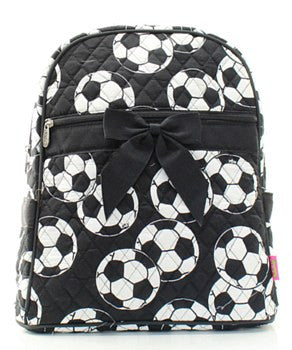Soccer Quilted Backpack