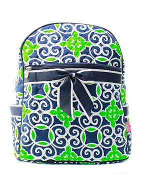 Geometric Print Quilted Backpack