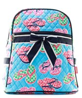 Flip Flop Print Quilted Backpack