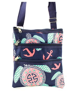 Turtle Print Messenger Bag