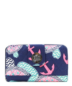 Quilted Wallet Turtle Print