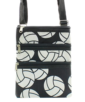 Volleyball Print Messenger Bag