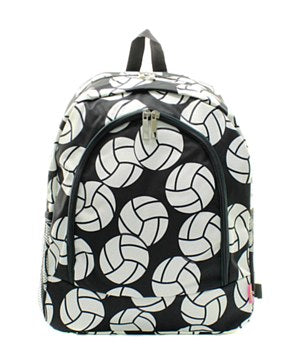 Volleyball Print Backpack
