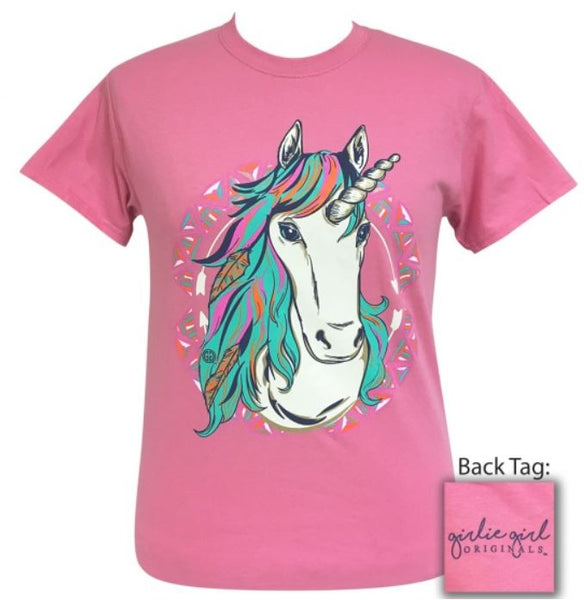 "Youth Girlie Girl ""Western Unicorn"" Tee"