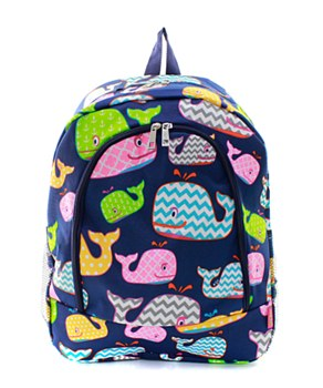 Whale Print  Backpack