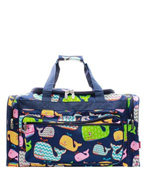 "23"" Whale Print Duffel - 2 Color Choices"
