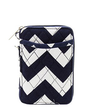 Quilted Wristlet Wallet Chevron Print