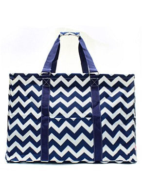 Utility Tote Extra Large - Chevron Print - 5 Color Choices