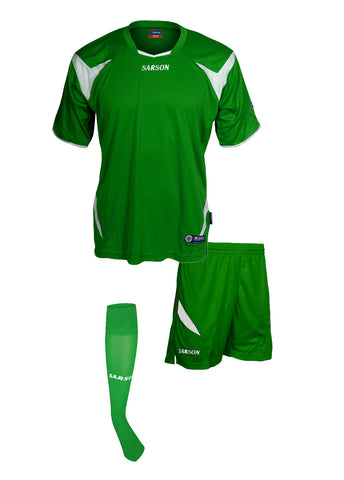 Merca and Durango Set Kelly Green/White