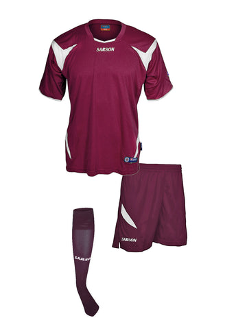 Merca and Durango Set Maroon/White