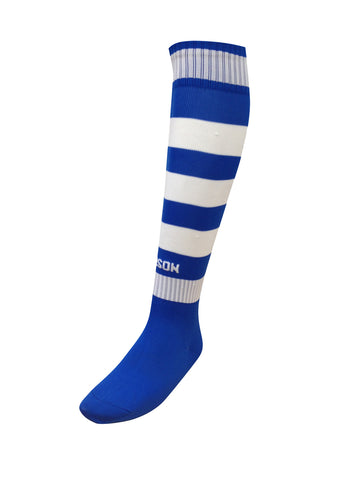 Hoop Socks Royal/White
