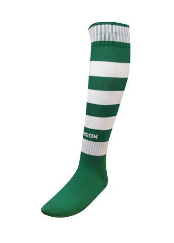 Hoop Socks Kelly Green/White