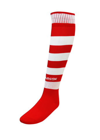 Hoop Socks Red/White