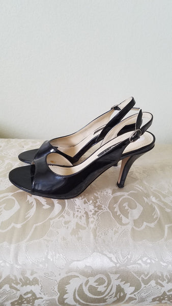 Nine West Slingback Black Patent 8