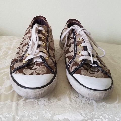 Coach Brown Logo Sneakers