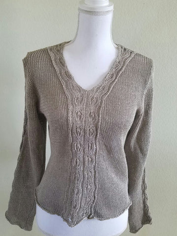 ZUZA BART Taupe Sweater M