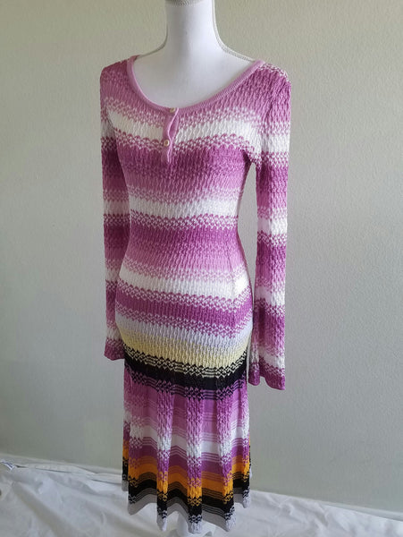 Missoni Sport Long Sleeve stripped dress