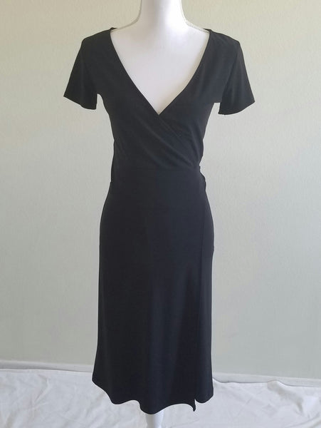 Black wrap dress jones New York 4
