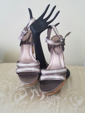 Franco Sarto Metallic Wedges