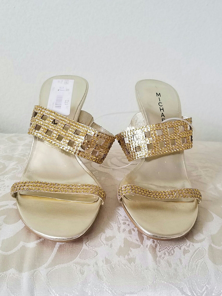 Michael Kors Gold Sandals  7 1/2