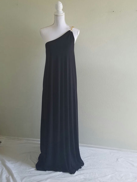 Nilsa Ramierz Goddess Black Maxi Dress M