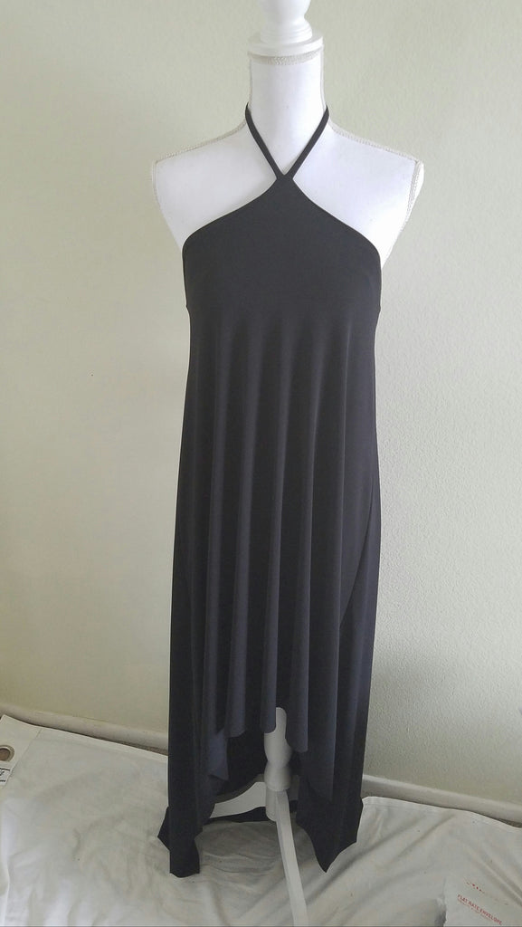 Nilsa Ramierz Black Halter Maxi Dress M