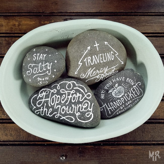 Painting Kindness Rocks & Giving Away Free Tees!