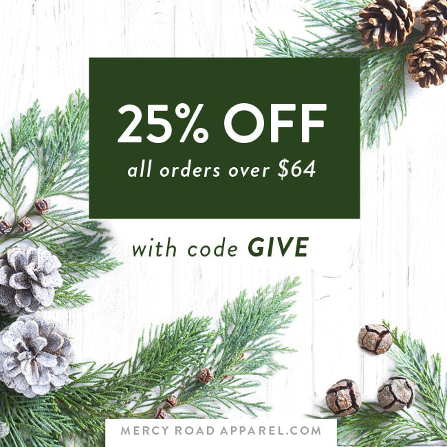 25% off all orders over $64 and free shipping with code GIVE